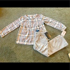 NWT Ralph Lauren courdory & Carter's 3t blouse